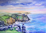 Watercolor Paintings - Lands End Vista by Merv Scoble