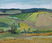 Francois Fournier Paintings - Landscape Patchwork no2 by Francois Fournier