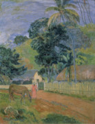 1899 Posters - Landscape Poster by Paul Gauguin
