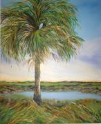 Michele Hollister - For Nancy Asbell Posters - Large Palm Poster by Michele Hollister - for Nancy Asbell