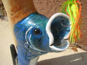 Fishing Sculpture Originals - Larry the Largemouth Bass by Joe Chandler