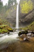 Oregon Scenery - Latourell Falls Waterfall Columbia River Gorge Oregon by Dustin K Ryan