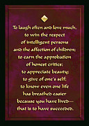 Often Framed Prints - Laugh often love much Framed Print by Digital Crafts