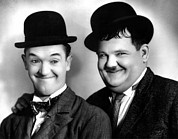 Mustache Prints - Laurel And Hardy Print by Everett