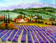 Lavander Paintings - Lavander field by Inna Montano