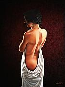 Cloth Paintings - Lavish Calla by Horacio Cardozo