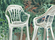 Lawn Chair Metal Prints - Lawn Chairs Metal Print by Donald Maier