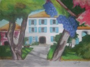 Chateau Pastels - Le Chateau by Louise Griffiths