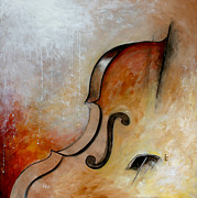 Violins Paintings - Le Violoncelle by Vital Germaine
