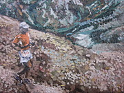 Marathon Painting Originals - Leadville 100 Ultra by Kendal Greer