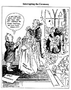 Political Drawings Prints - League Of Nations Cartoon Print by Granger