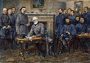 Simpson Prints - Lees Surrender, 1865 Print by Granger