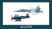 Fighters Posters - Legacy of Flight Poster by Greg Fortier
