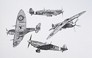 Great Britain Drawings - Legend by Malc McHugh
