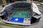 New Dallas Cowboys Stadium Prints - Lego City  Print by Malania Hammer