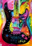 Guitar Painting Framed Prints - Lenny Strat Framed Print by Dean Russo