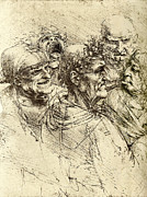 Leonardo Sketch Prints - Leonardo Da Vinci Artwork Print by Sheila Terry