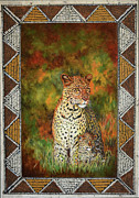 Masai Paintings - Leopards by Carol J  South