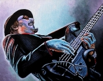Bass Painting Prints - Les Claypool Print by Al  Molina