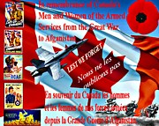 """war Poster"" Digital Art Framed Prints - Lest We Forget Canada Framed Print by Garry Staranchuk"