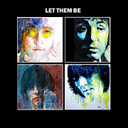 The Beatles George Harrison Paintings - Let Them Be by Paul Lovering