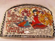 Plaque Ceramics Prints - Let Us Dance Print by Lisa Dunn