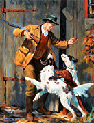 Spaniels Paintings - Lets Go by Kevin Lawrence Leveque