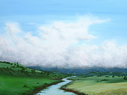 Big Skies Paintings - Lets go that way by Colin Perini