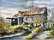 Grist Mill Paintings - Levy Deas Grist Mill by Jack Bolin