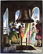Declaration Of Independence Prints - Liberty Bell, 1776 Print by Granger