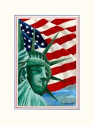 Patriotic Paintings - Liberty by Herb Strobino