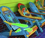 Summer Chairs Prints - License to Chill Print by Debbi Granruth