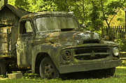 Lichen-covered Fence Photos - Lichen Covered Truck by Douglas Barnett