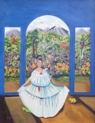 Visionary Art Painting Prints - Life is Good in Boquete Print by Joyce Small