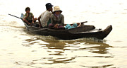 Travel Photography Prints - Life On Lake Tonle Sap 3 Print by Bob Christopher