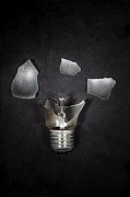 Shards Posters - Light Bulb Poster by Joana Kruse