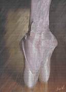 Ballet Glass Art - Light On Her Feet by Lance  Kelly