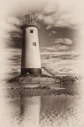 Talacre Digital Art Acrylic Prints - Lighthouse  Acrylic Print by Adrian Evans