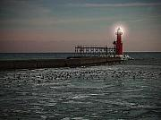 Jim Wright Art - Lighthouse by Jim Wright