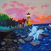 Shore Sculptures - Lighthouse by Karen Rightmyer Scoville
