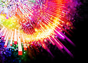 Multicolor Posters - Lighting Explosion Poster by Setsiri Silapasuwanchai