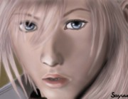 Lightning Digital Art - Lightning. Final Fantasy 13 by Sandra Geis