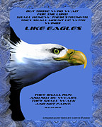 Eagles Mixed Media - Like Eagles by Christopher Korte