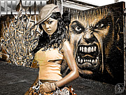 Photo Manipulation Posters - Lil Kim Poster by The DigArtisT