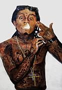 Music Art Prints - Lil Wayne  Print by Christopher  Chouinard