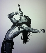 Lil Wayne Prints - Lil Wayne Print by Siobhan Bevans