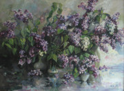 Spring Paintings - Lilacs by Tigran Ghulyan