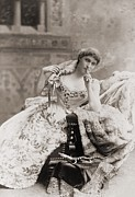 Ball Gown Metal Prints - Lillie Langtry 1853-1929, English Metal Print by Everett