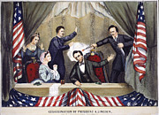 John Booth Posters - Lincoln Assassination Poster by Granger