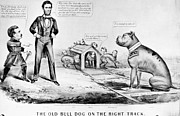 Brinton Framed Prints - Lincoln: Cartoon, 1864 Framed Print by Granger